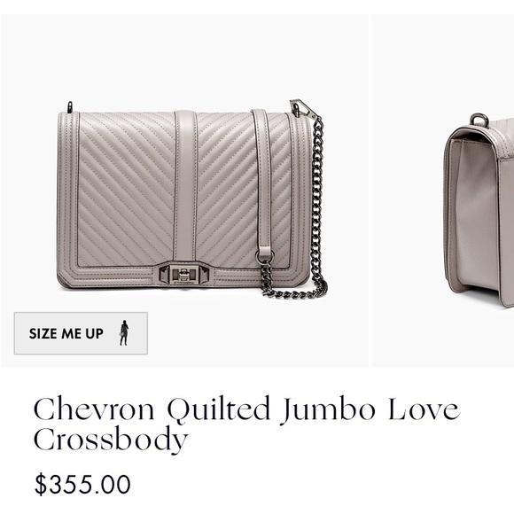 9c6b99d33 Rebecca Minkoff Chevron Quilted Jumbo Love Bag. M_5b23e9a5c9bf50c5131c3842